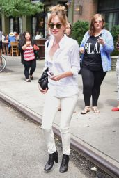 Dakota Johnson Casual Style - Out in New York City, July 2014