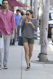 Danielle Panabaker in Shorts - Out in Beverly Hills - July 2014