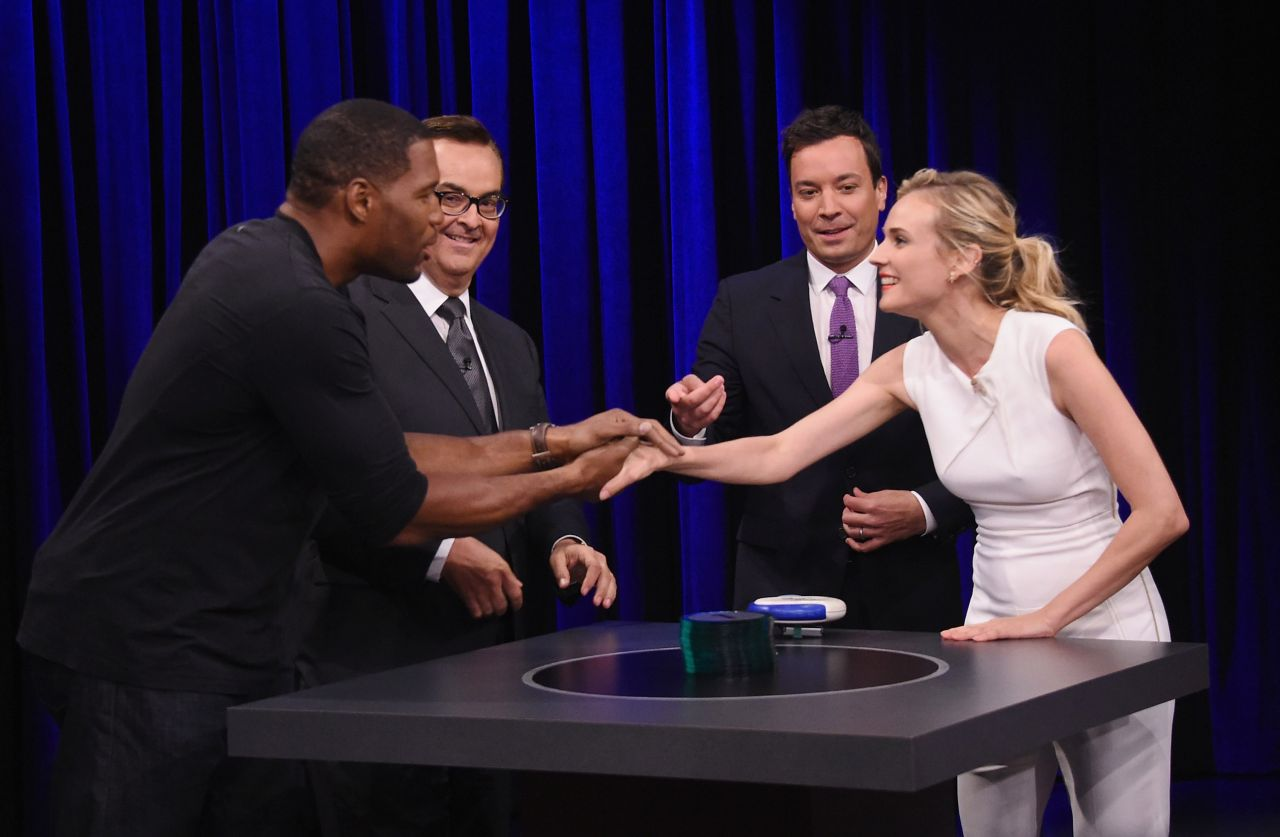 Diane Kruger at The Tonight Show Starring Jimmy Fallon - July 2014