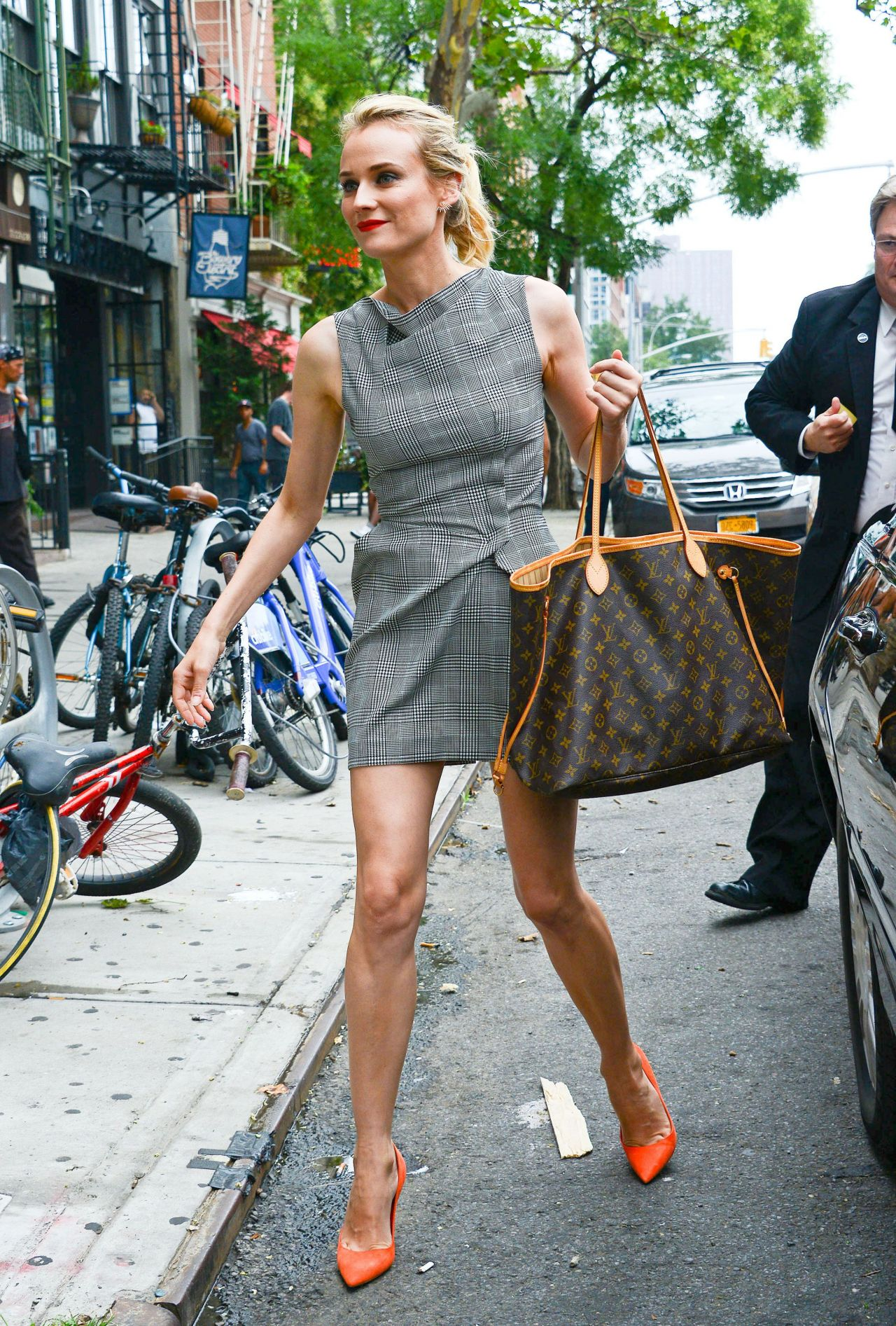 Diane Kruger Hot In Mini Dress - Out In New York City -4931