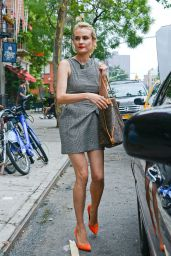 Diane Kruger Hot in Mini Dress - Out in New York City - July 2014
