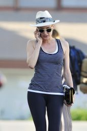 Diane Kruger in Leggings Leaving the Gym in LA - June 2014
