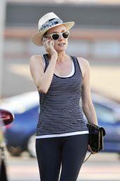 Diane Kruger in Leggings Leaving the Gym in LA - June 2014