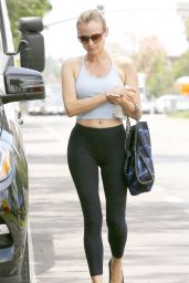 Diane Kruger in Tights - Leaving a Pilates Studio in West Hollywood - July 2014
