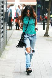 Eliza Doolittle in Ripped Jeans - Out in London - July 2014