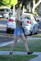 Elle Fanning in Shorts at a Friend
