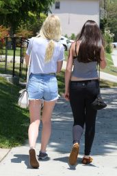 Elle Fanning in Shots - Out in Studio City - July 2014
