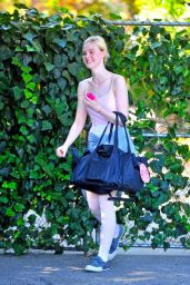 Elle Fanning - Leaving a Private Ballet Lesson - June 2014