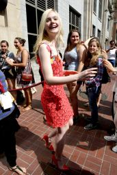 Elle Fanning - Leaving the Hard Rock Hotel in San Diego - July 2014