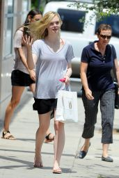 Elle Fanning Street Style - at The Dance Store in Culver City - July 2014