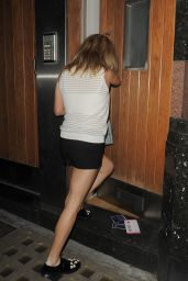 Ellie Goulding Leggy in Shorts - Returning to Her Home in London - July 2014
