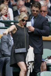 Elsa Pataky and Chris Hemsworth - 2014 Wimbledon Tennis Championships