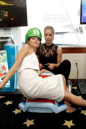 Emily Bett Rickards & Willa Holland - Nintendo Lounge at Comic-Con 2014 in San Diego