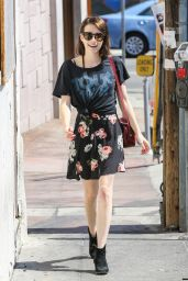 Emma Roberts Street Style - Out in West Hollywood - June 2014
