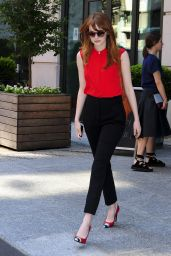 Emma Stone Style - Out in New York City - July 2014