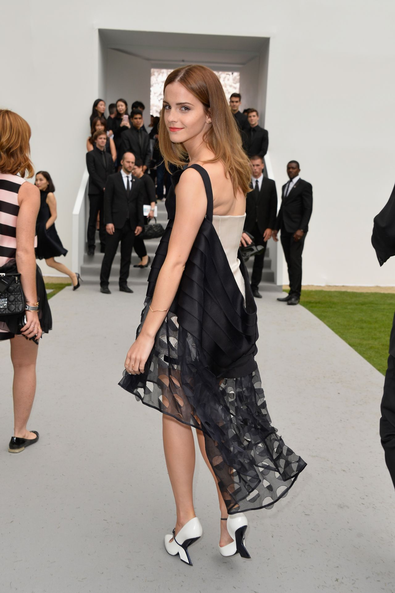 Emma Watson Christian Dior Fashion Show During Paris Fashion Week July 2014