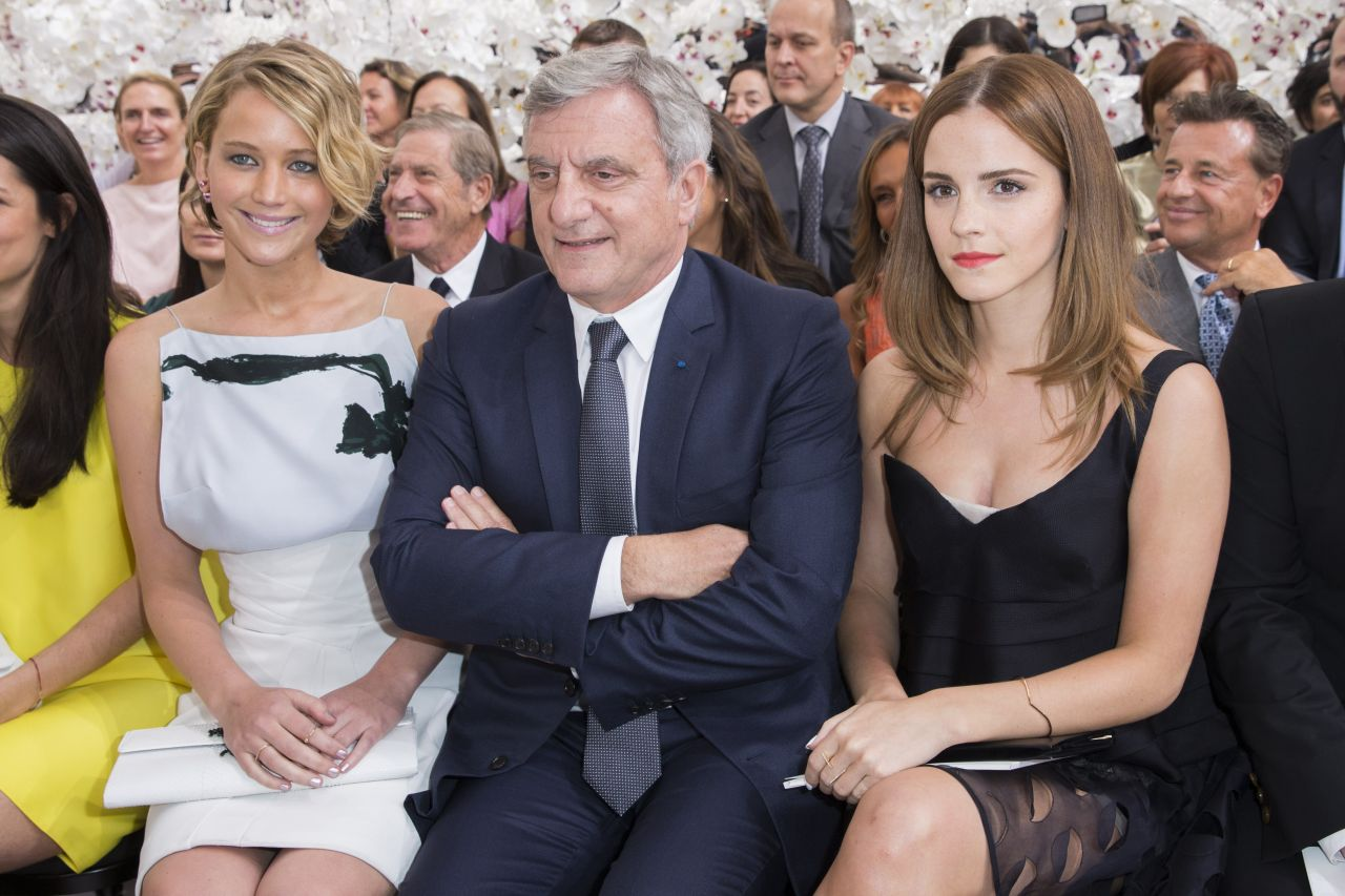 Emma Watson & Jennifer Lawrence – Christian Dior Fashion Show During Paris Fashion Week – July 2014