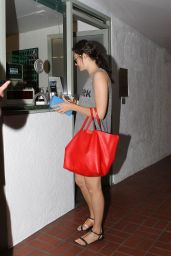 Emmy Rossum Heads to Her Car After Workout - Beverly Hills, July 2014