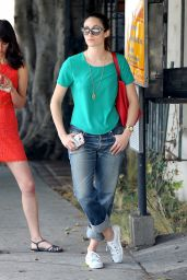 Emmy Rossum in Jeans - Going to a Spa in Beverly Hills - July 2014