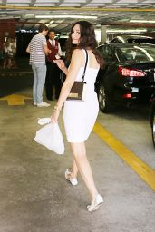 Emmy Rossum in Mini Dress - Out in Beverly Hills - July 2014