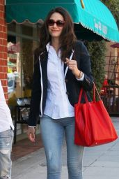 Emmy Rossum in Tight Jeans - Out in Beverly Hills, July 2014