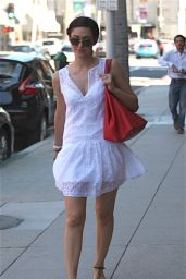 Emmy Rossum Showed Off Her Legs as She Strolled Through Beverly Hills - July 2014