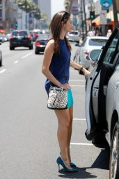 Emmy Rossum Wears a Short Skirt in Hollywood - July 2014