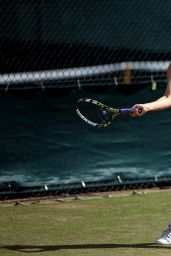 Eugenie Bouchard - Practice Session on day eleven of the Wimbledon Tennis Championships 2014
