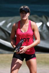 Eugenie Bouchard - Practice Session - Wimbledon Tennis Championships 2014 – July 1, 2014