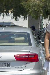 Eva Longoria Shows off her Enviably Toned Legs - Marbella, Spain July 2014