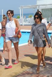 Eva Longoria Shows off her Enviably Toned Legs - Marbella, Spain July 2014