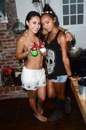 Francia Raisa in a Bikini Top at Her Birthday Party in Malibu - July 2014