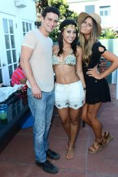 Francia Raisa in a Bikini Top at Her Birthday Party in Malibu - July 2014