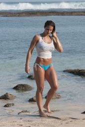 Gemma Atkinson in a Bikini at a Beach in Bali - June 2014