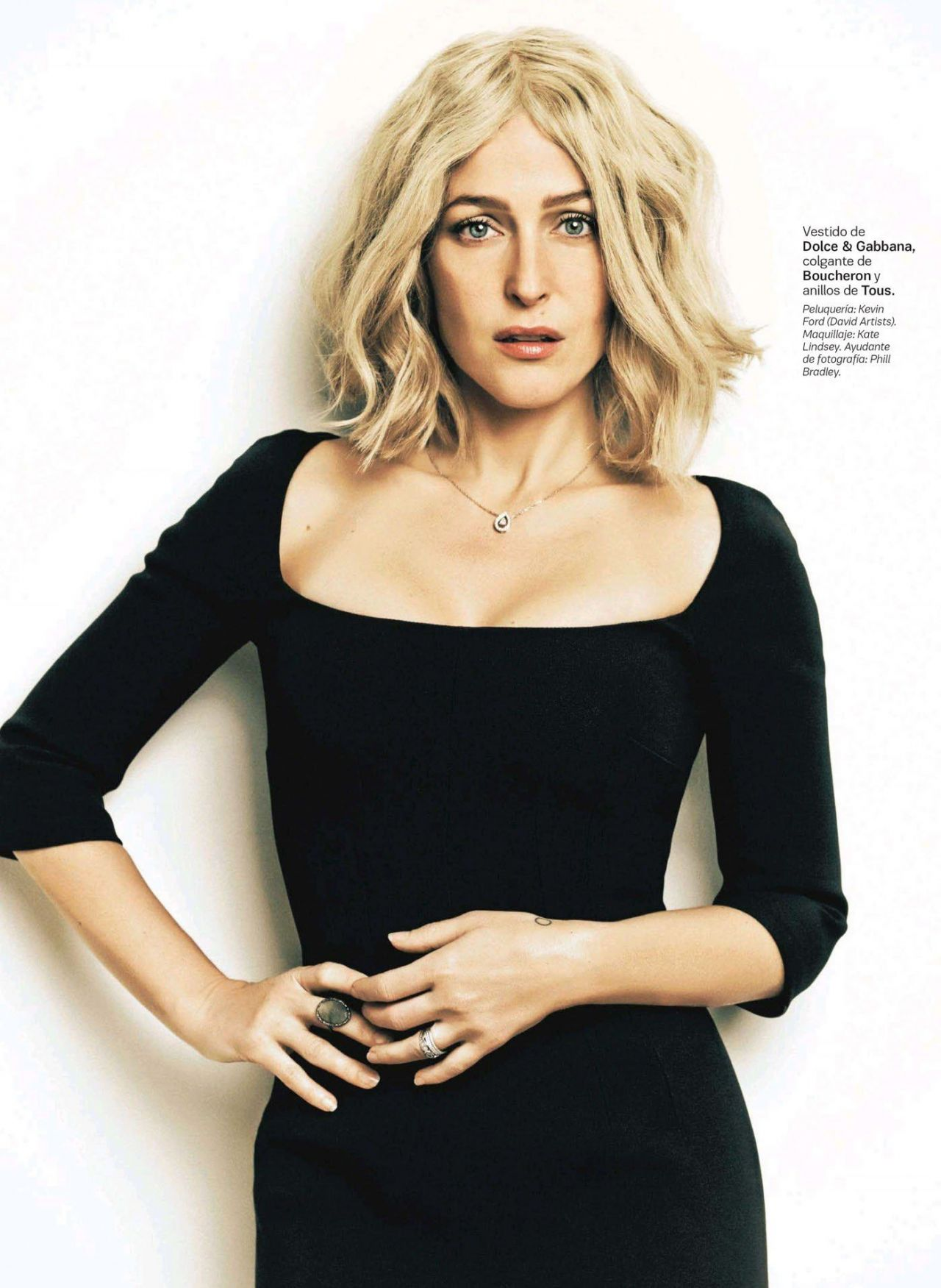Gillian Anderson - S Moda Magazine (Spain) July 2014 Issue