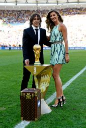Gisele Bundchen, Carles Puyol and World Cup Trophy - FIFA World Cup 2014