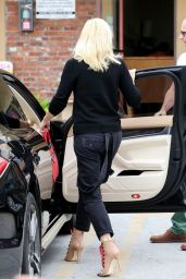 Gwen Stefani Wearing Black Sweater With the Word TRIBE Written Across it - Out in Los Angeles