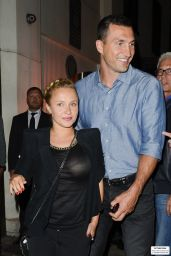 Hayden Panettiere With Fiancé Wladimir Klitschko -Out in London, July 2014