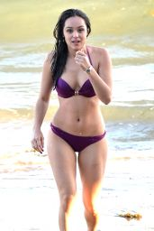 Hayley Orrantia in a Bikini at the Beach in Los Angeles - July 2014