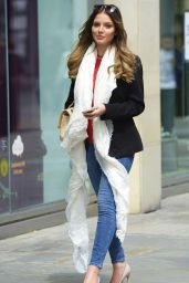 Helen Flanagan Street Style - Out in Manchester - June 2014