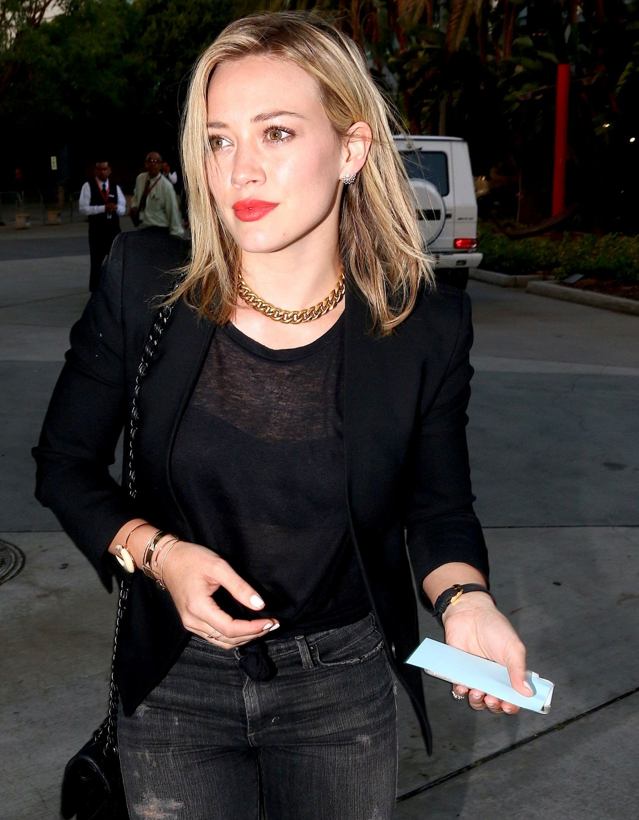 Hilary Duff at Staples Center in Los Angeles - July 2014