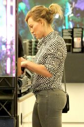 Hilary Duff in Jeans at MAC Cosmetics in West Hollywood - July 2014