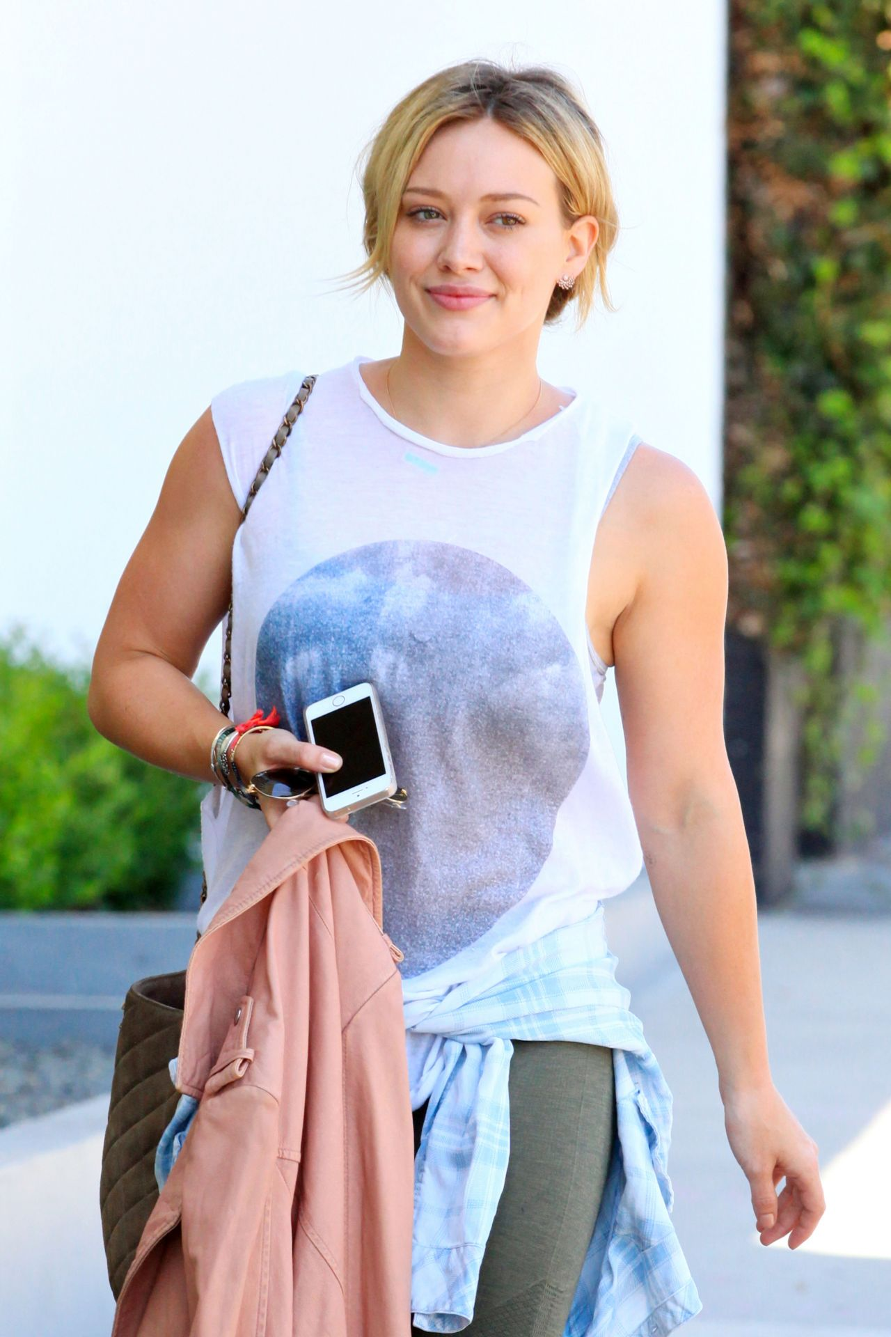 Hilary Duff Leaving the Gym in West Hollywood - July 2014