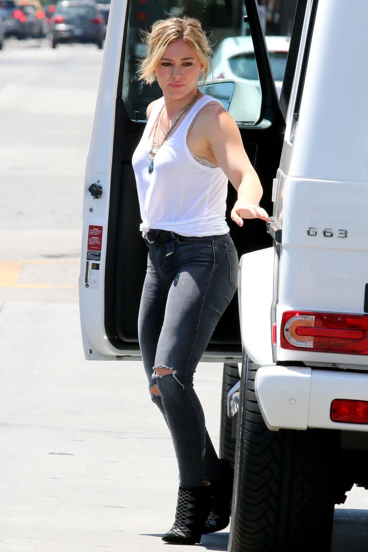 Hilary Duff Street Style - Out in West Hollywood, July 2014