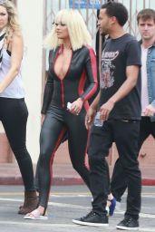 Iggy Azalea & Rita Ora on Set of the Black Widow Music Video - July 2014