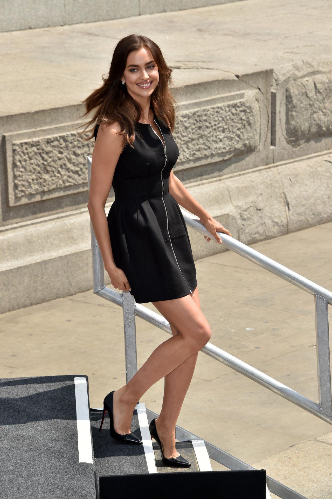 Irina Shayk In Mini Dress Hercules Photocall In London