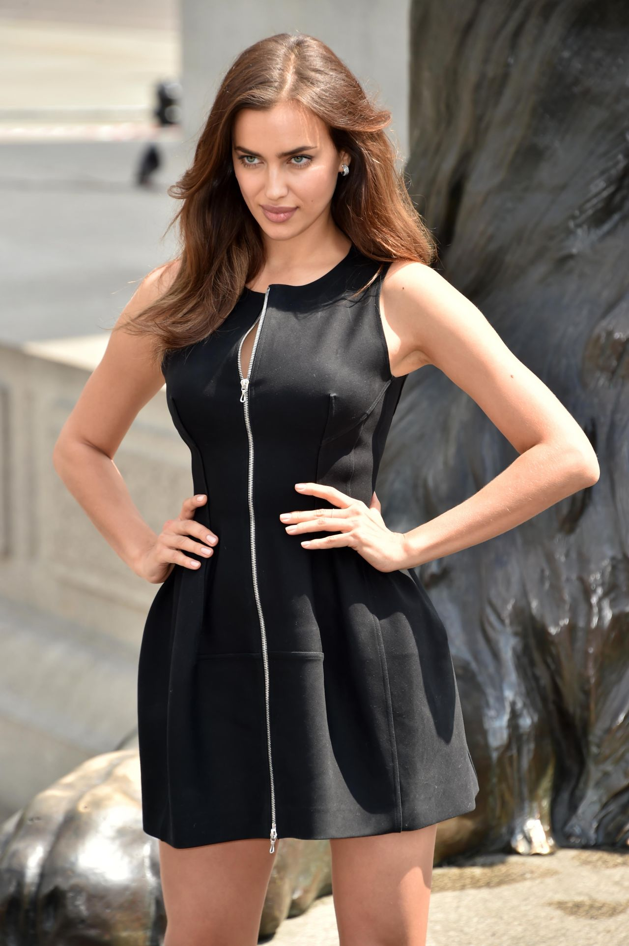 Irina Shayk In Mini Dress Hercules Photocall In London