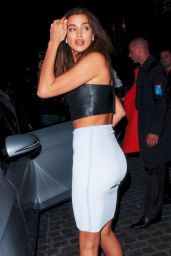Irina Shayk Night Out Style - at Chiltern Firehouse in London - July 2014