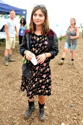Jenna Louise Coleman - Glastonbury Festival in Glastonbury, England - June 2014