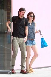Jennifer Carpenter in Denim Shorts - Out in Hollywood - June 2014